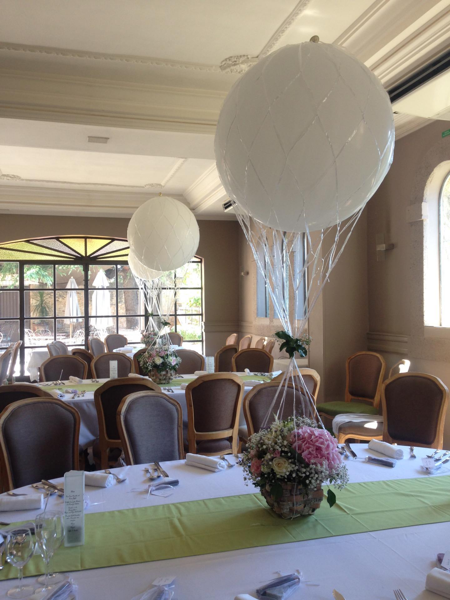 Montgolfière, Ballon et panier florale