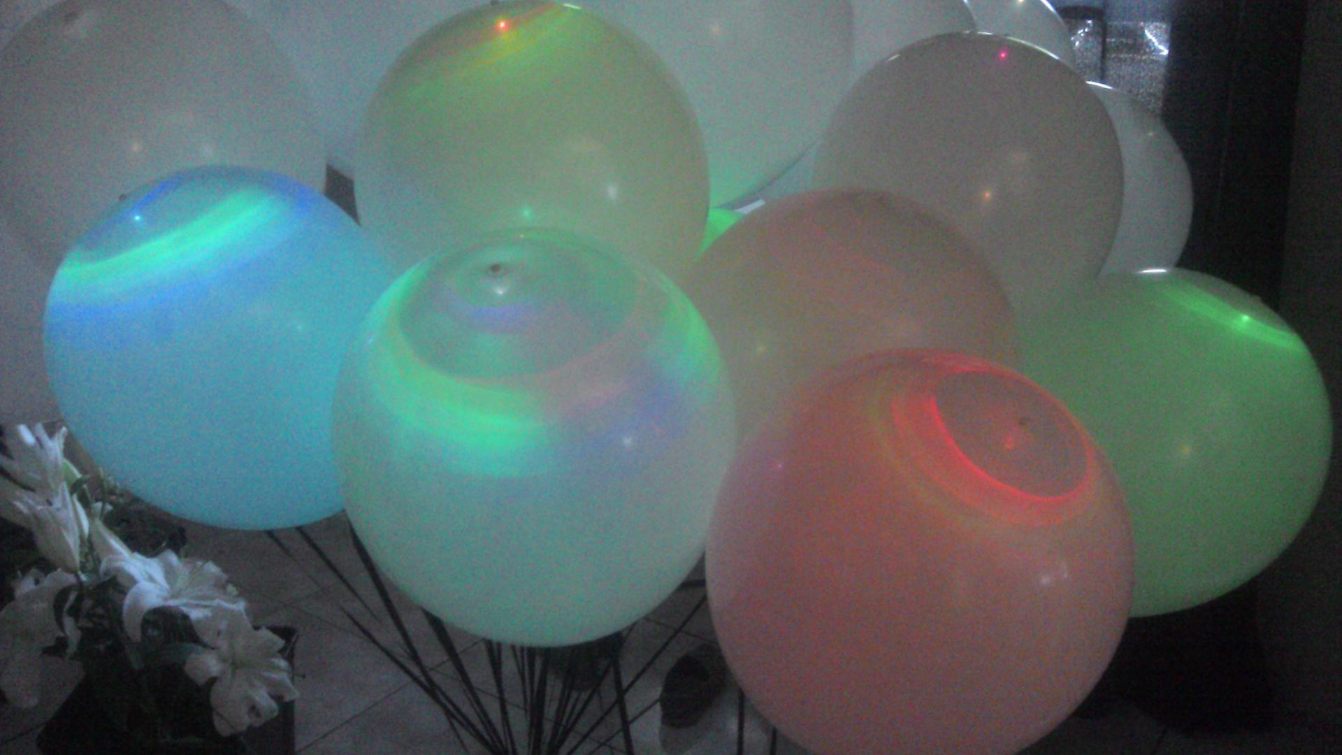 Décoration Ballons Baptême avec Ballons led