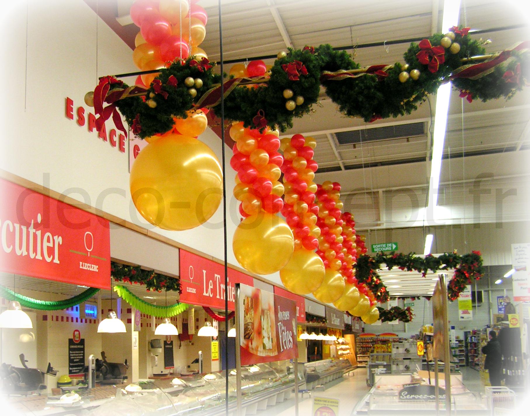 Colonnes Ballons Noël