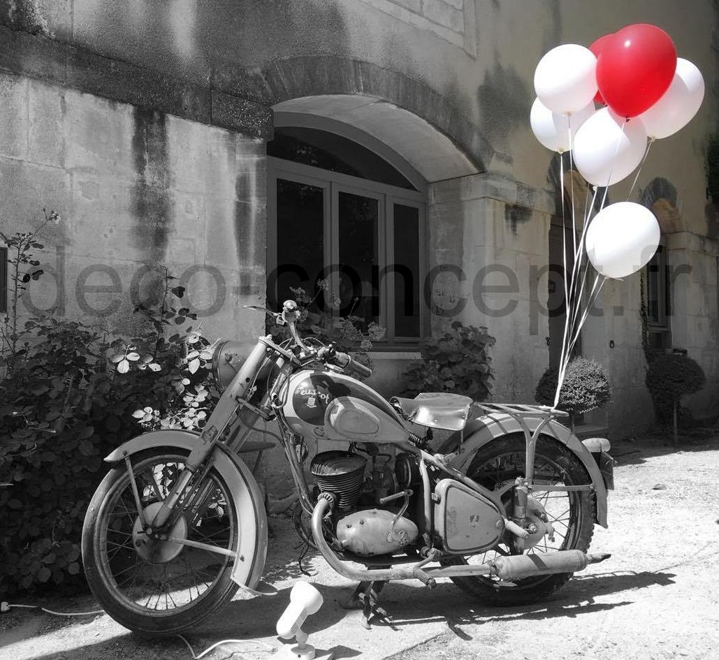 Décoration moto avec Ballons Hélium