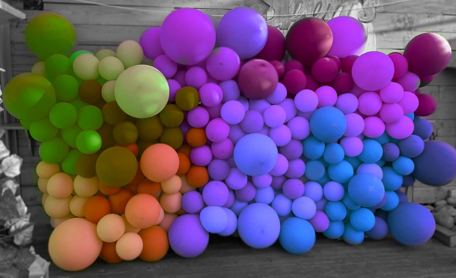 Décoration mrurale de ballons