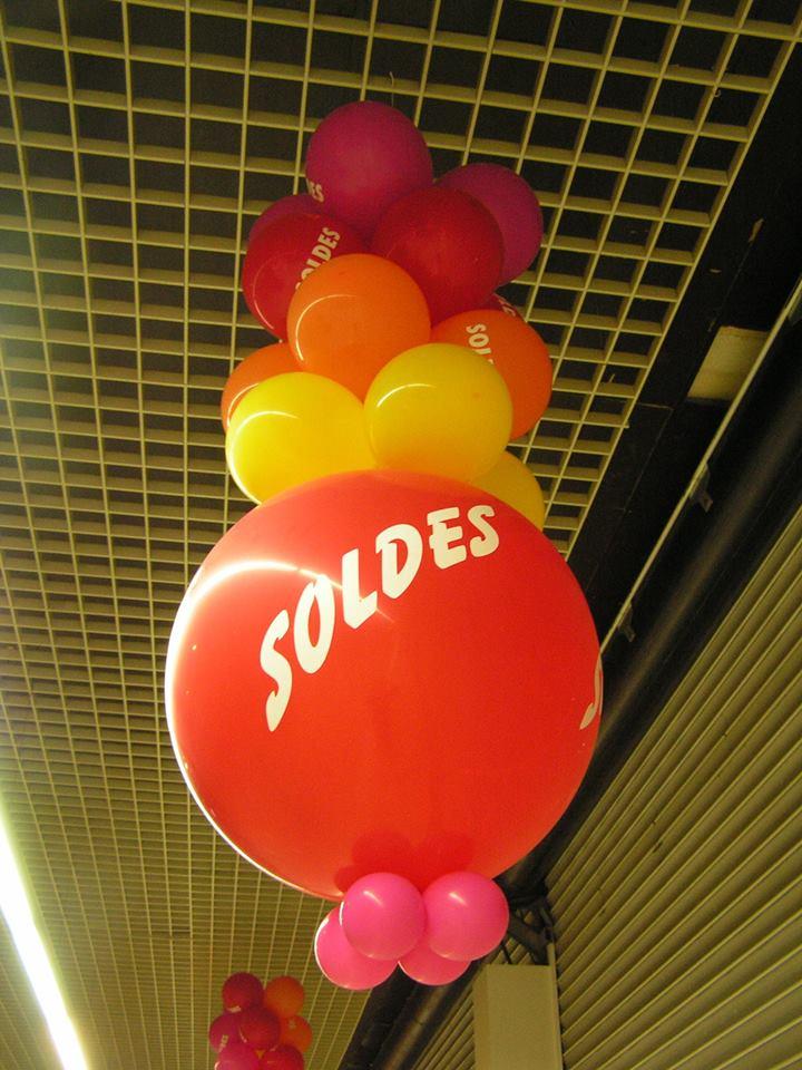 Ballons imprimés pour les SOLDES