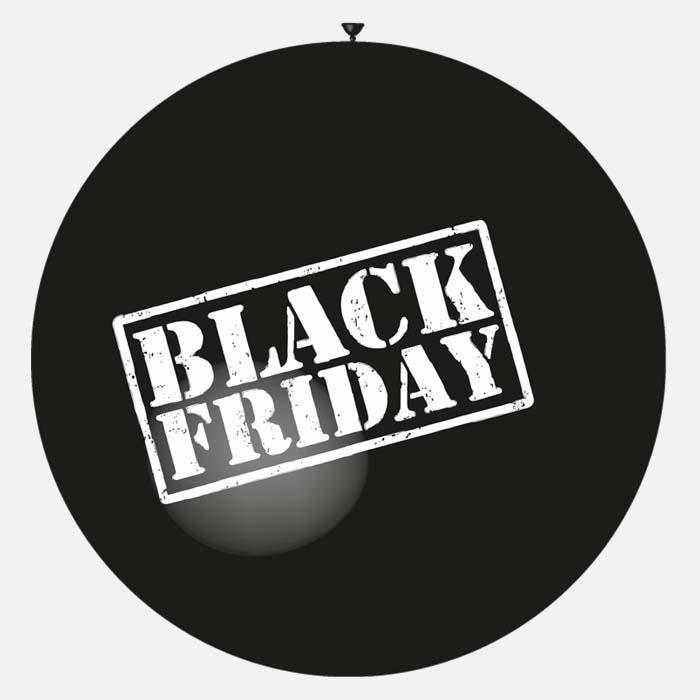Gros ballon noir black friday