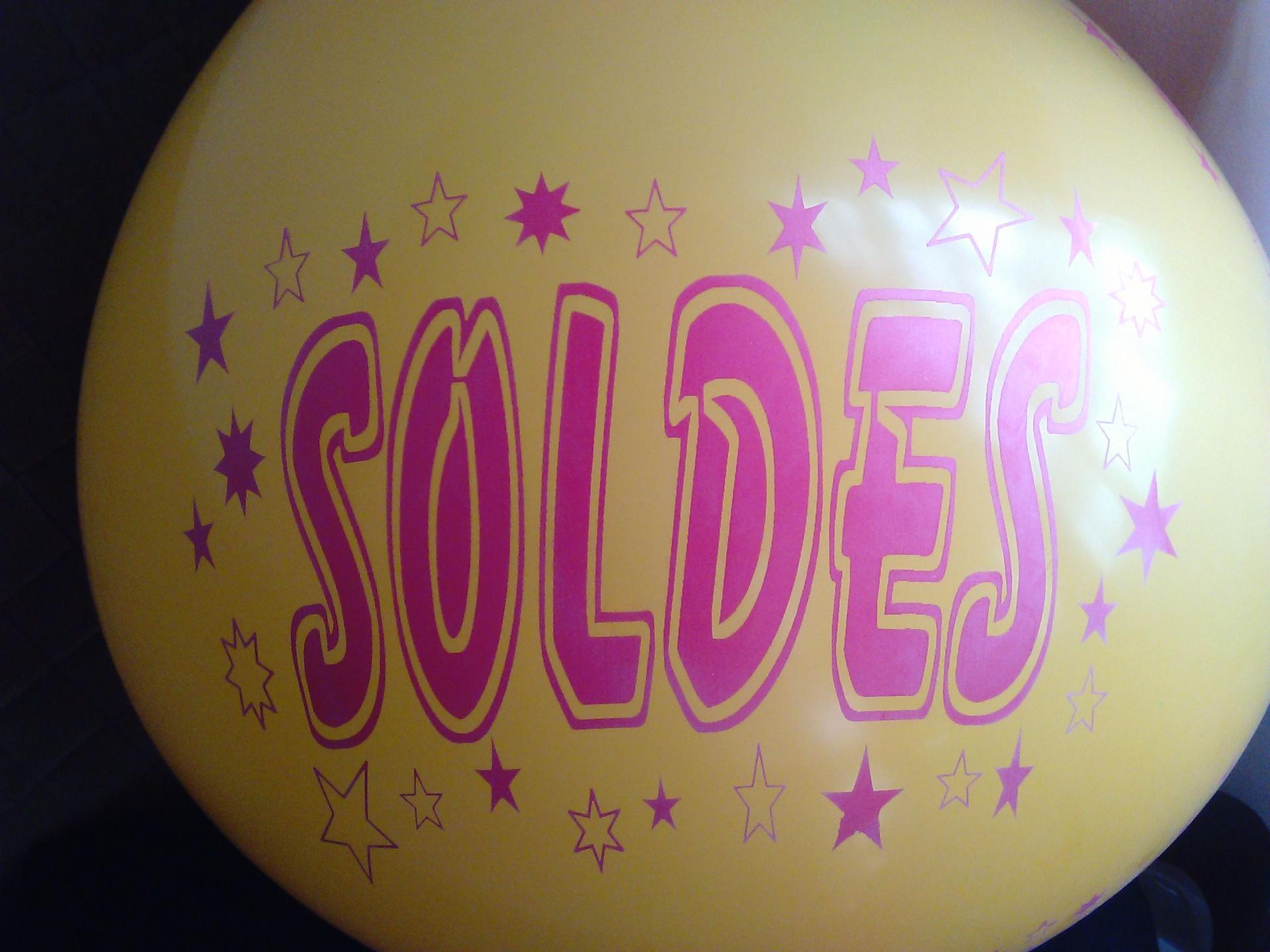 Gros ballon jaune SOLDES