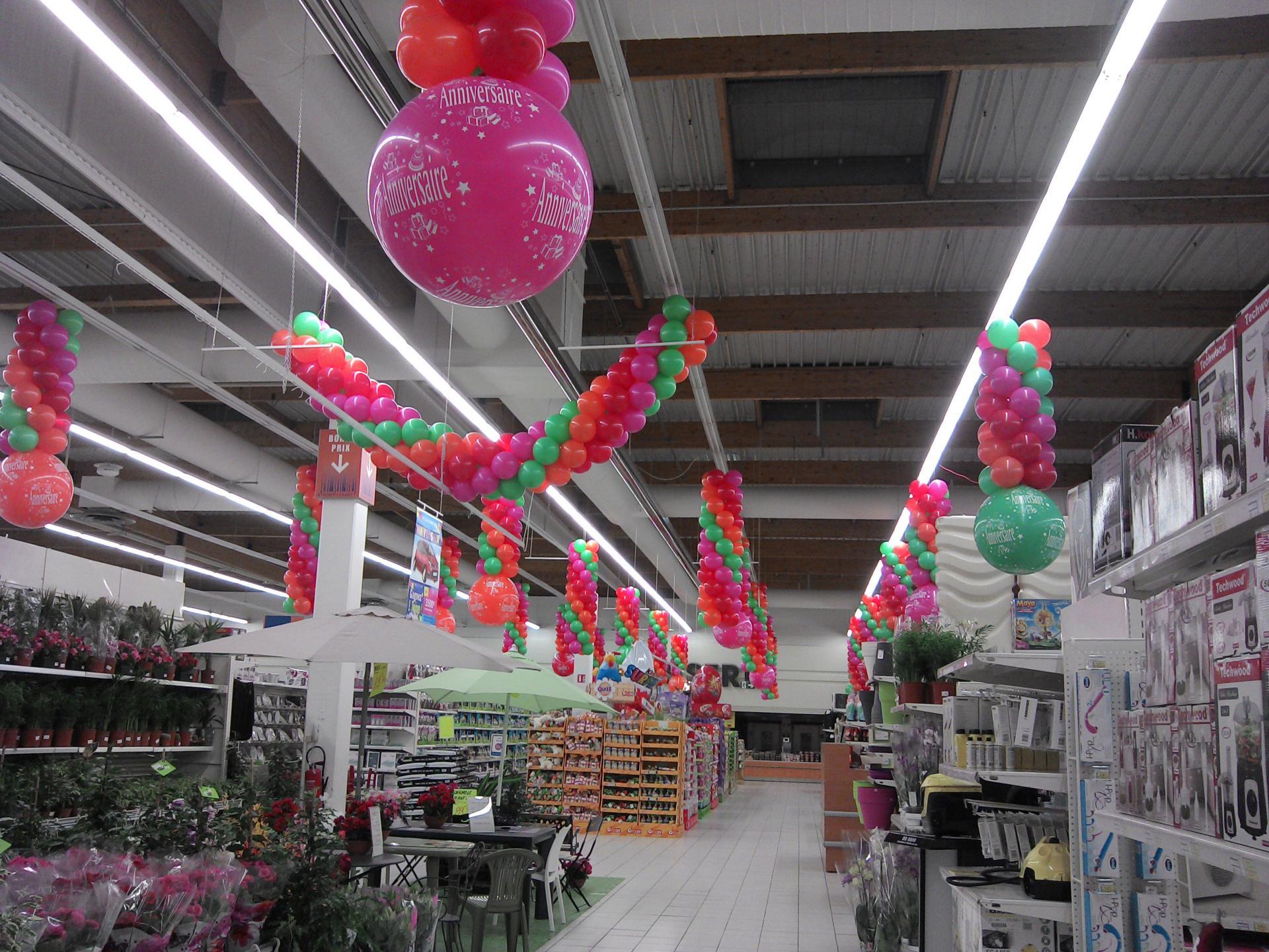 Ballons imprimés ANNIVERSAIRE Leclerc