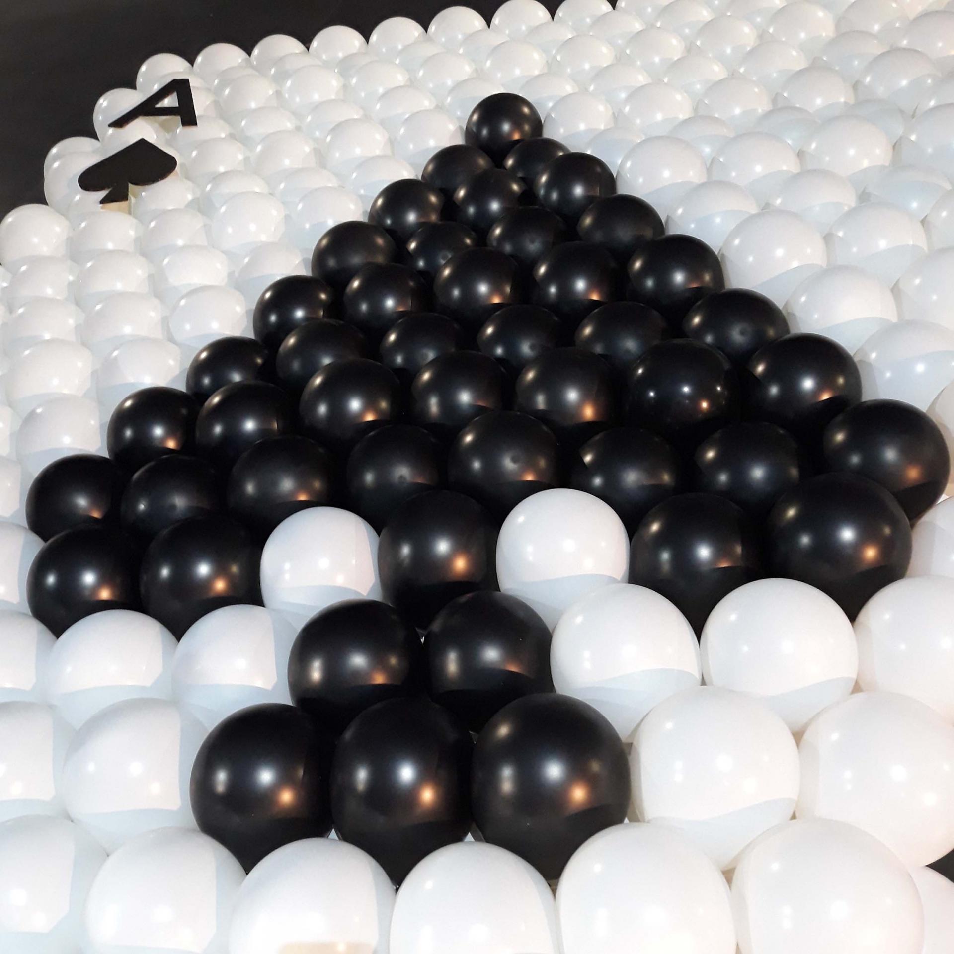 Mur de ballons soirée casino