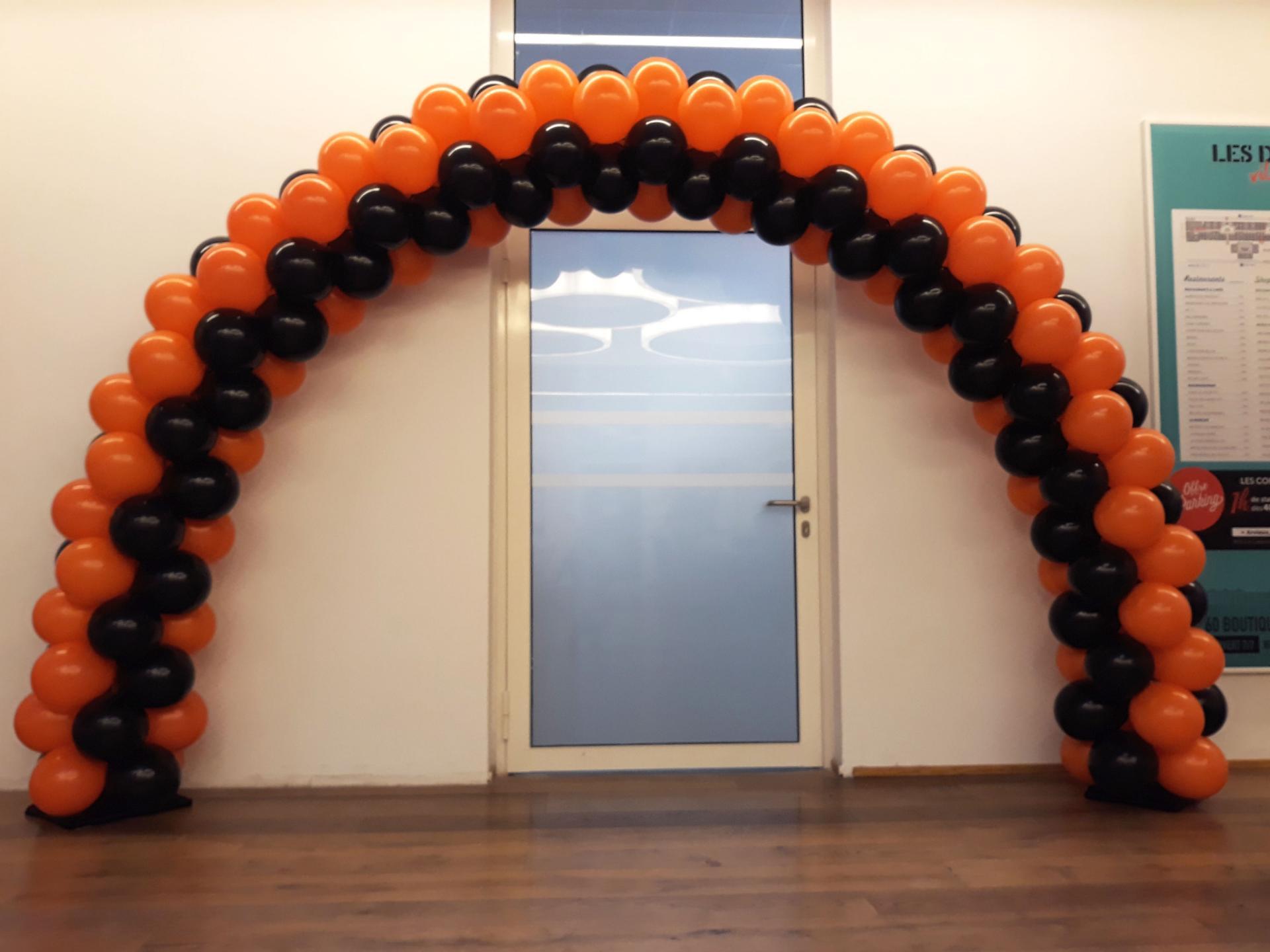 Arche Ballons 2 couleurs orange Bank