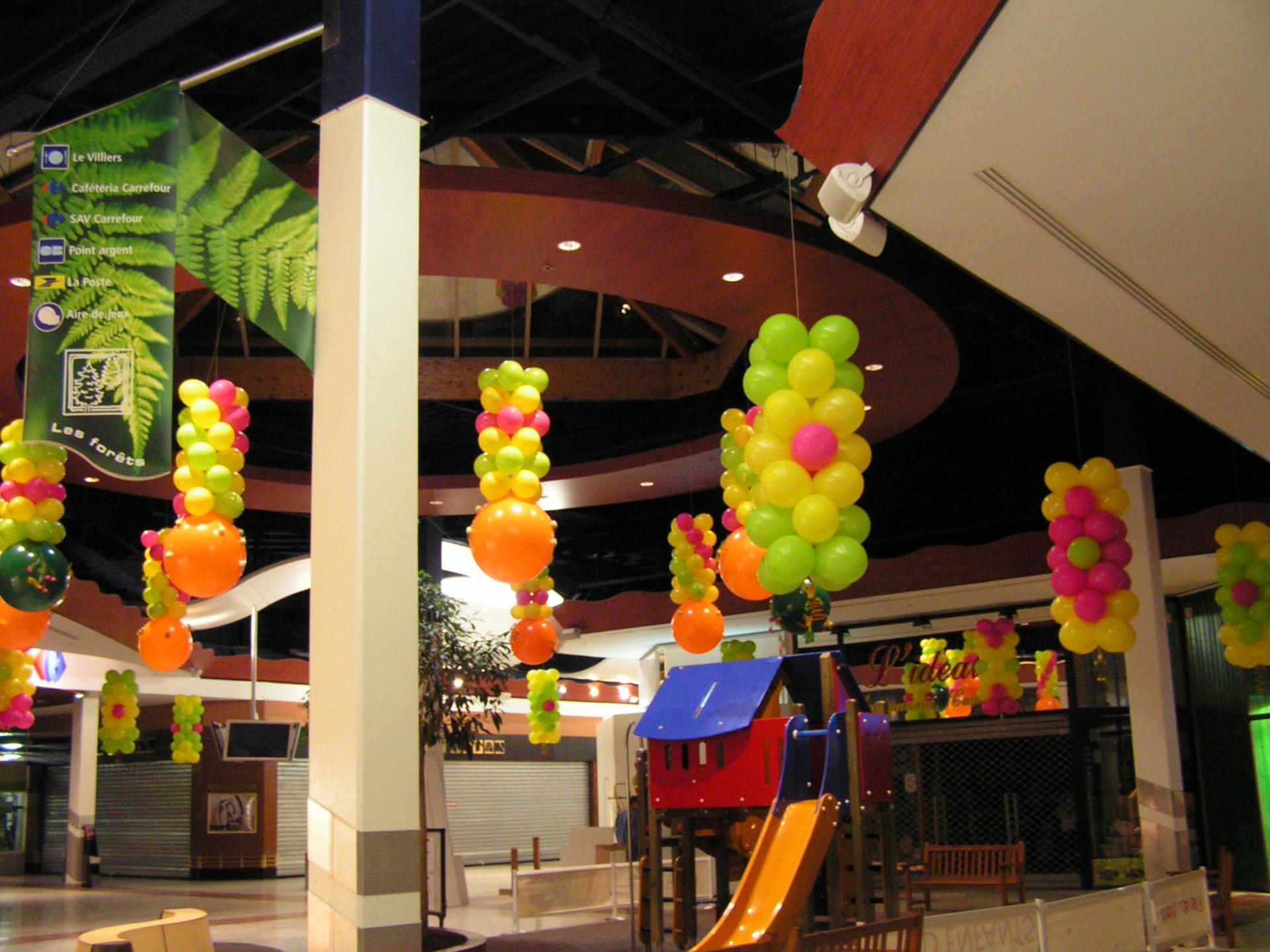 Décoration à thème pour centre commercial